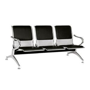 sillas de espera 3 puestos tapizado