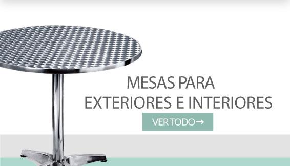 Mesas para exteriores e interiores Industrias Cruz