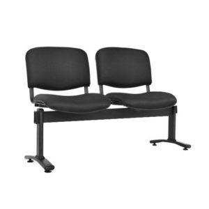 silla de espera isósceles tapizada 2 puestos