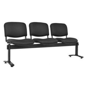 silla de espera isósceles tapizada 3 puestos