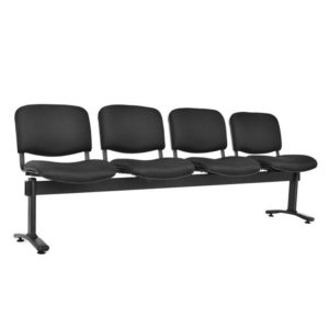 silla de espera isósceles tapizada 4 puestos