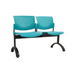sillas de espera 2 puestos plástico