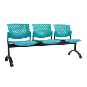 sillas de espera 3 puestos plástico