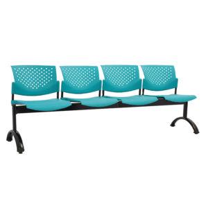 sillas de espera 4 puestos plástico