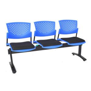 sillas de espera butterfly 3 puestos ptapizada