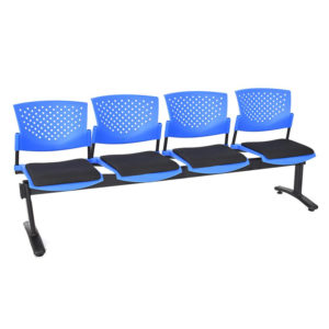 sillas de espera butterfly 4 puestos ptapizada